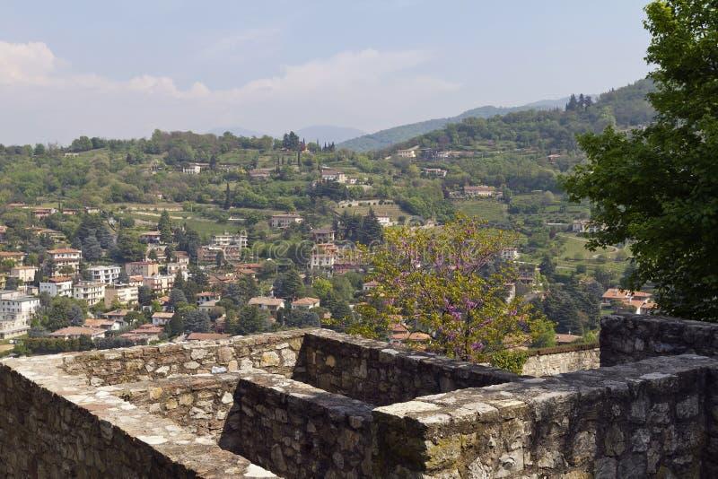 Brescia, widok od grodowego wzgórza zdjęcie stock