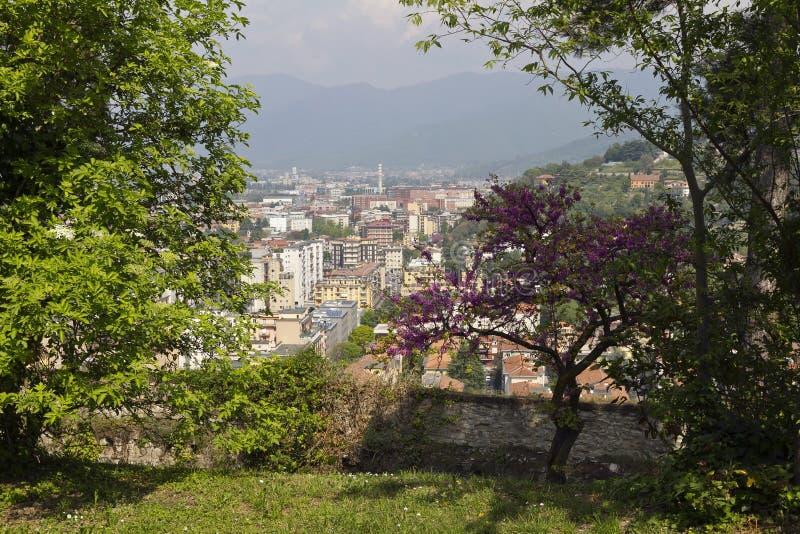 Brescia, widok od grodowego wzg?rza fotografia stock