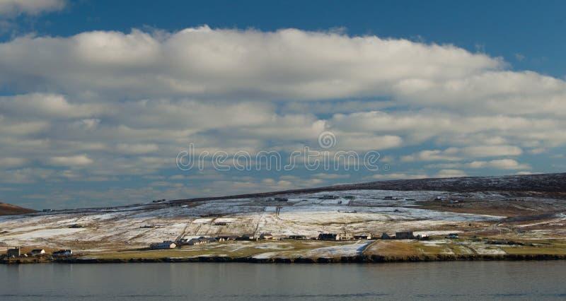 Bressay wyspa, jeden Shetland wyspy obraz royalty free