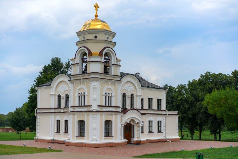 BREST, BELARUS - 28 JUILLET 2018 : Saint Nicholas Cathedral Svyato-Nikolaevskiy Sobor dans le mémorial de forteresse de Brest photographie stock libre de droits