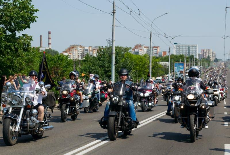 Brest roweru festiwalu zawody międzynarodowi zdjęcie stock