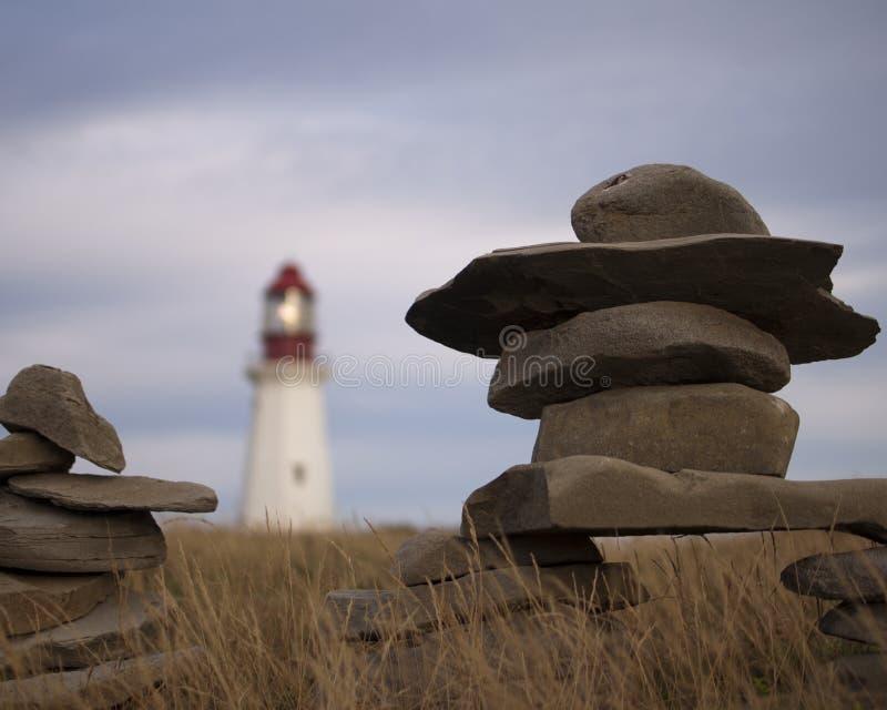 Bretão Nova Scotia do cabo do farol imagens de stock