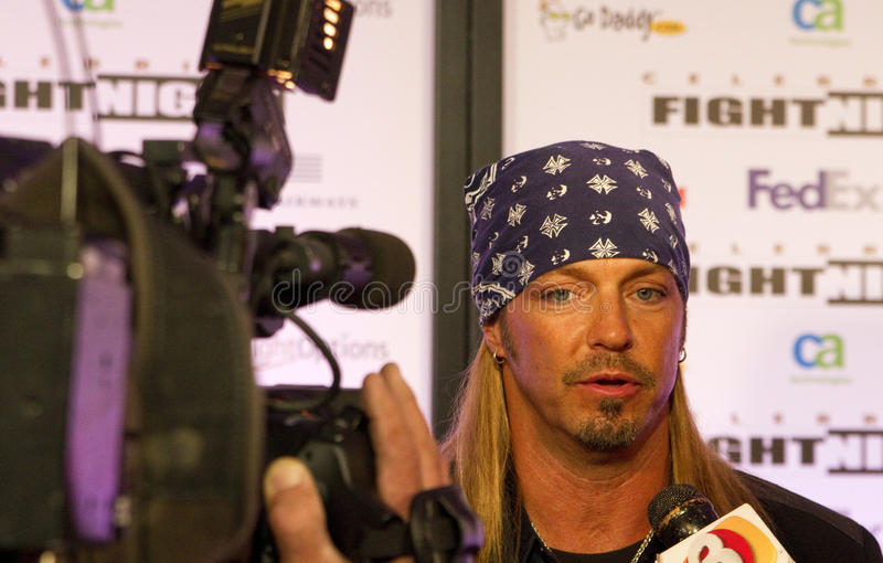 Bret Michaels. American musician, actor, director, screenwriter, producer and reality television personality Bret Michaels attends Celebrity Fight Night on March royalty free stock photo
