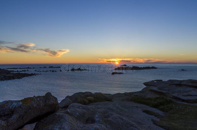 Bretagne-Küste lizenzfreie stockfotos
