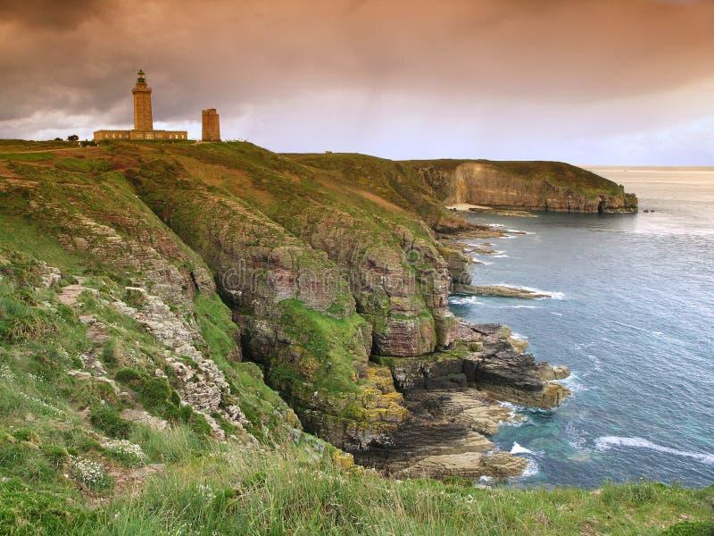 Bretagne lighthous lizenzfreie stockbilder