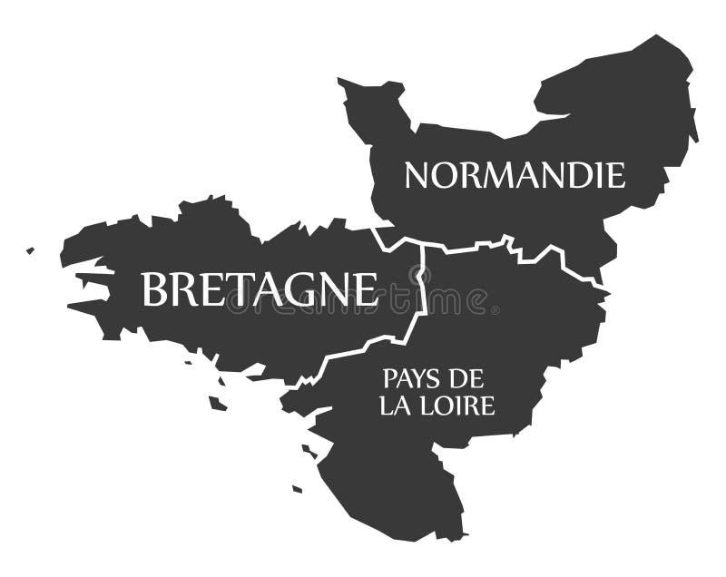Carte Bretagne Pays De La Loire.Pays De La Loire Region France Watercolor Map In Front Of A