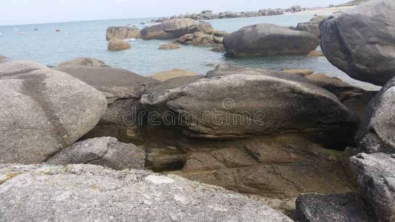 Bretagne-Strand lizenzfreie stockbilder