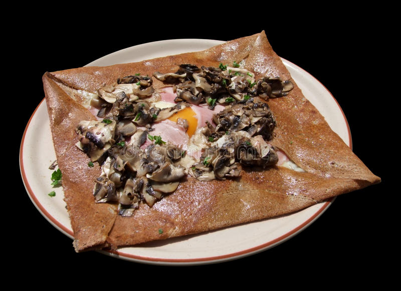 Breton Galette complete royalty free stock photo