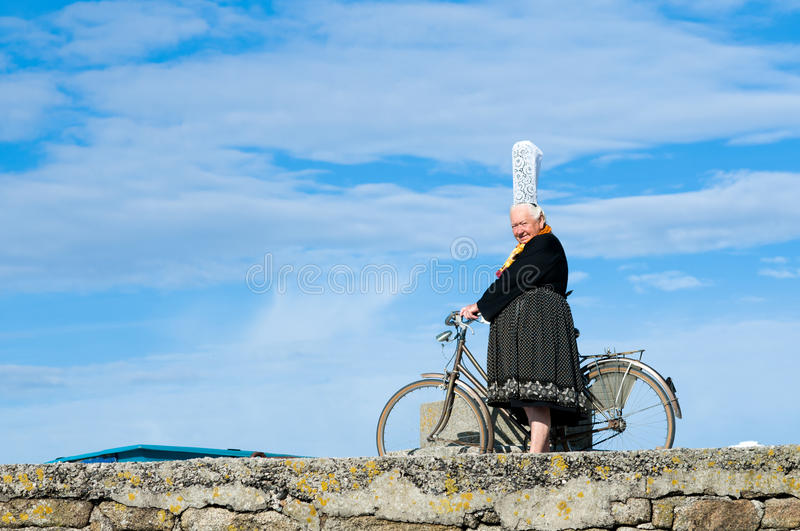 Breton women with headdress royalty free stock image