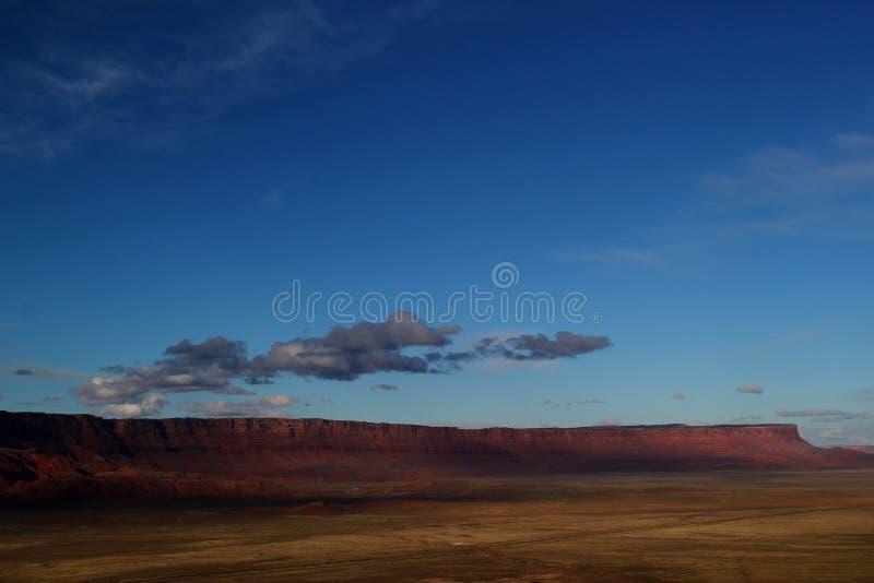 Brett öppet och gigantiskt landskap i det västra av USA arkivbilder