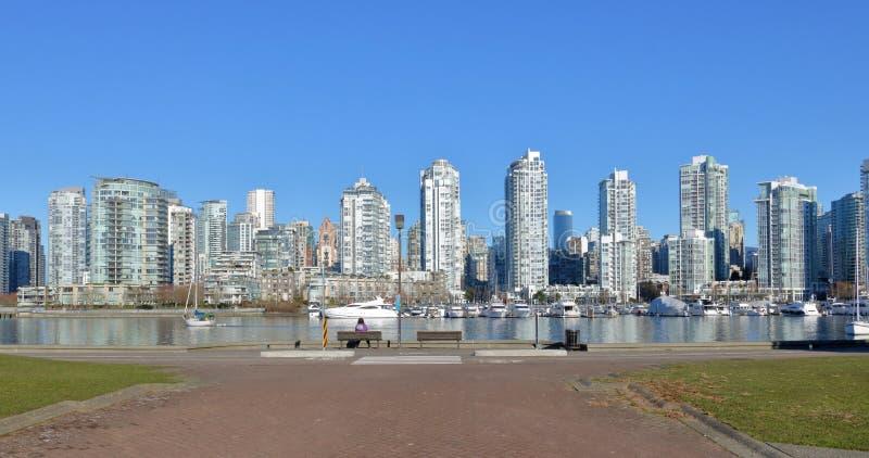 Brett öppna sikten av Vancouver Kanada arkivbild