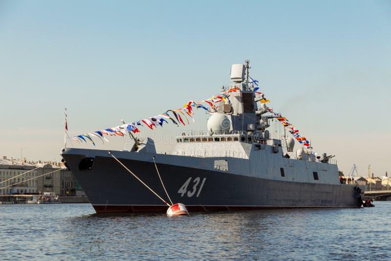 Brett 431 des Fregatte-'Admirals-Kasatonov ' stockbild
