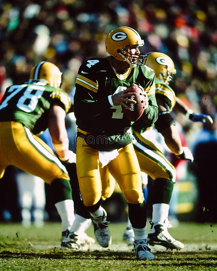 Brett Favre Green Bay Packers foto de stock royalty free