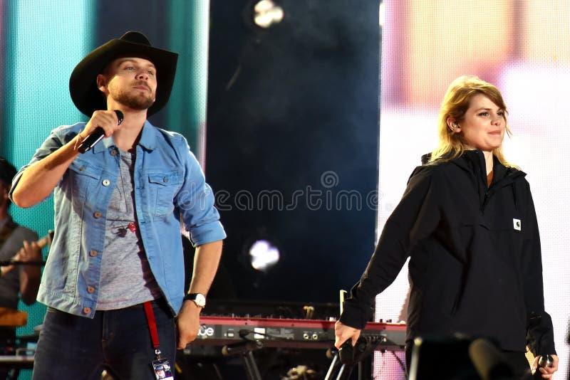 Brett Kissel et Coeur de pirate à la répétition de concert du jour 2019 du Canada image stock