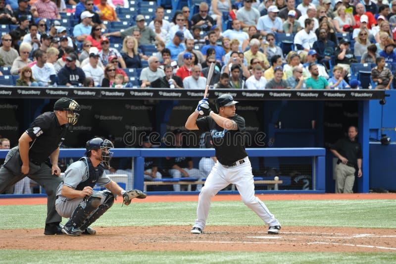 Brett Lawrie of the Toronto Blue Jays stock images