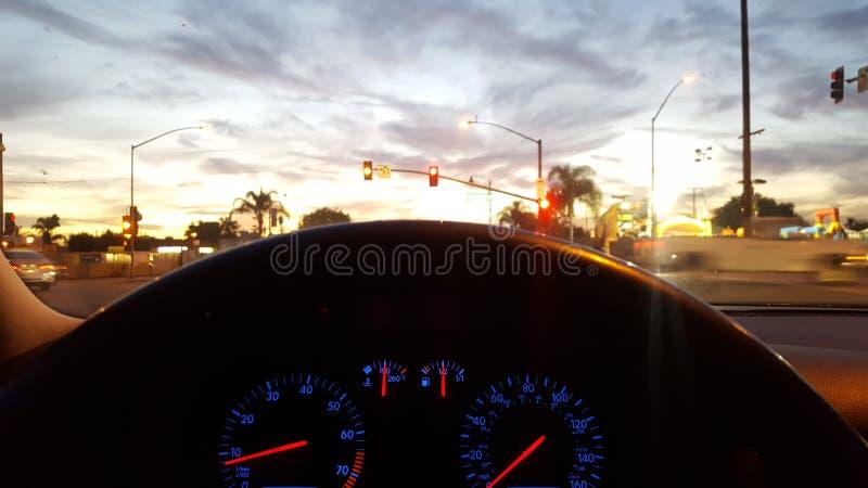 Brett meines Autos nachts lizenzfreies stockfoto