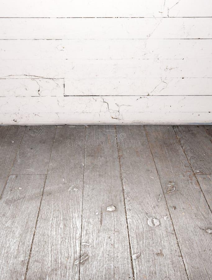Bretterboden und Wand lizenzfreie stockfotografie