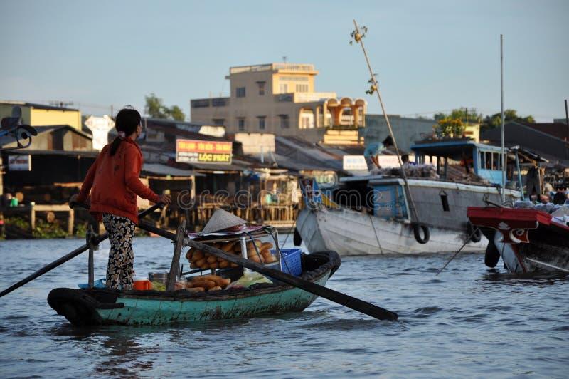 Bretterbudehaus, Haus in der Mekong-Delta, Vietnam lizenzfreie stockfotografie