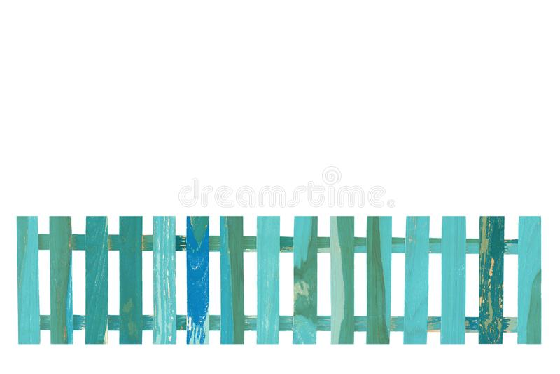 Bretterzaunisolat auf dem weißen Hintergrund stockfotografie