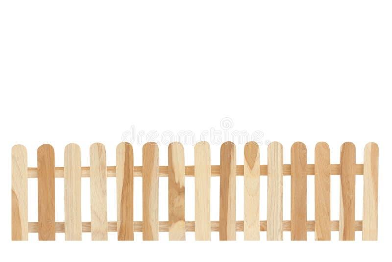 Bretterzaunisolat auf dem weißen Hintergrund lizenzfreies stockbild
