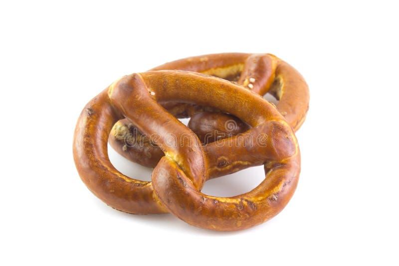 Bretzel Typisch Duits brood royalty-vrije stock afbeeldingen