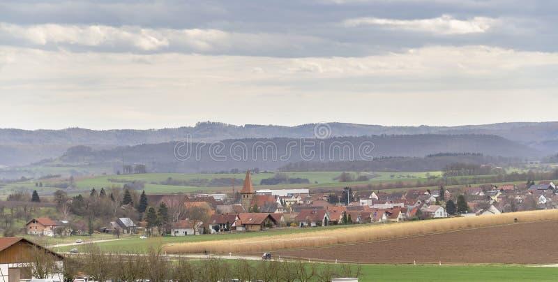 Bretzfeld in Hohenlohe fotografia stock libera da diritti