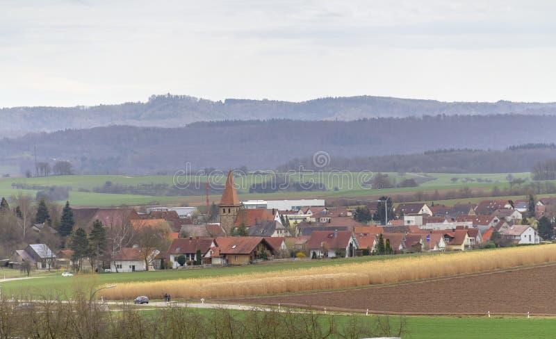 Bretzfeld in Hohenlohe fotografie stock