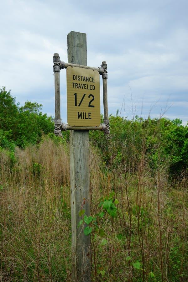 Brevard动物园足迹标志 免版税库存图片
