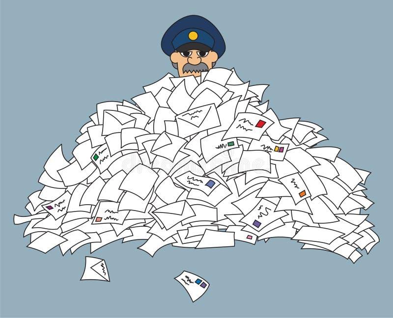brevbärare royaltyfri illustrationer