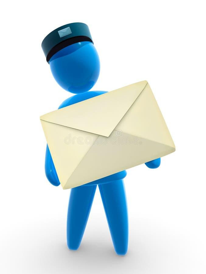 brevbärare stock illustrationer