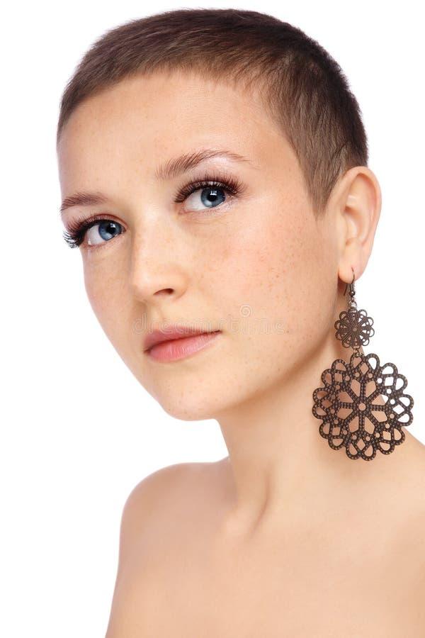 Breve taglio di capelli fotografie stock libere da diritti