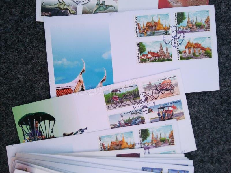 Breven från Thailand royaltyfria foton