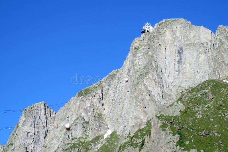 Brevent-Aufzug in Chamonix lizenzfreie stockbilder