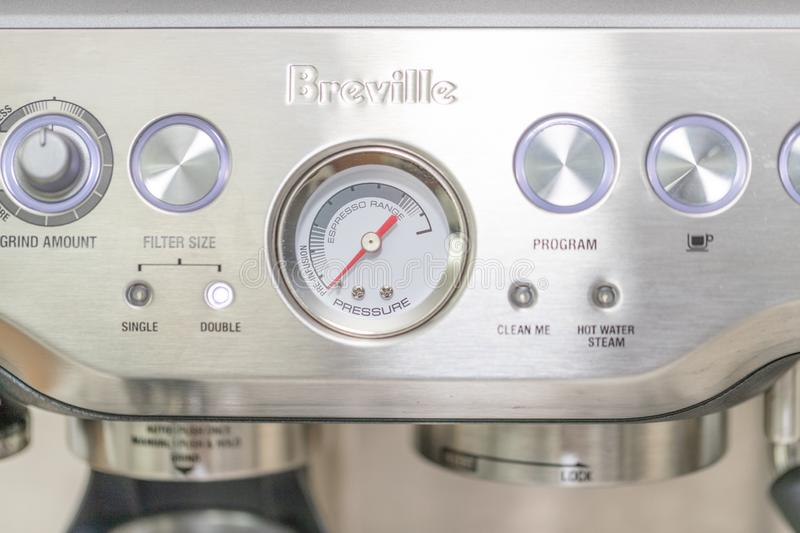 Breville coffee machine in cafe - Image royalty free stock photos