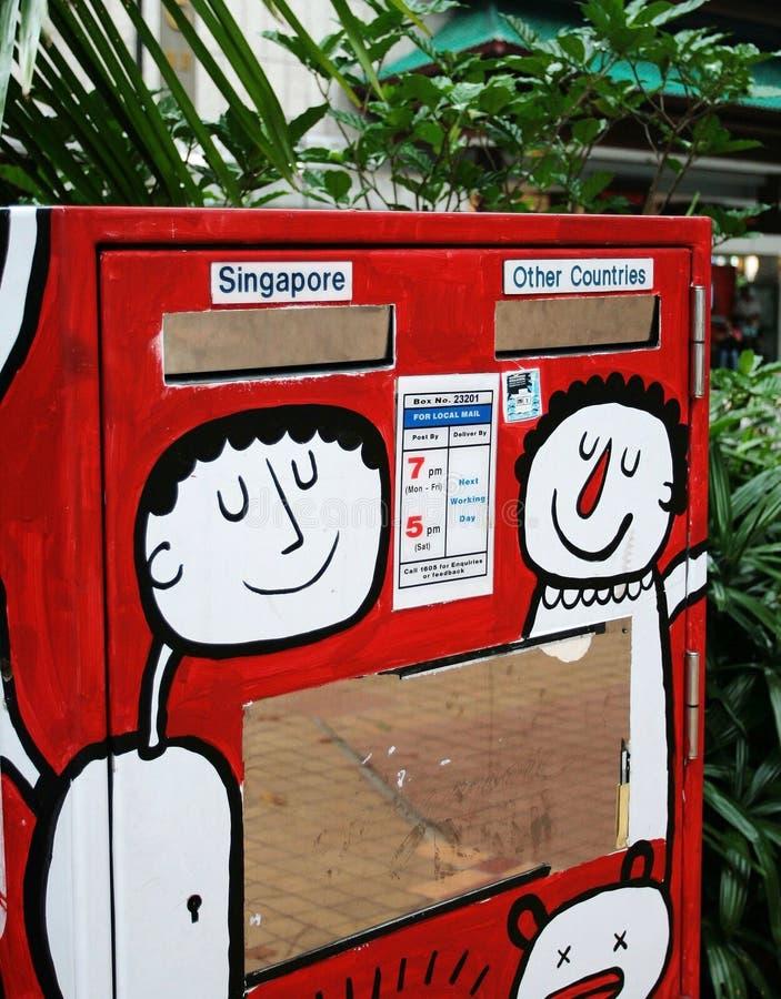 brevlåda singapore royaltyfria foton