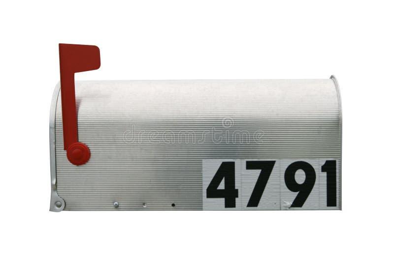 Brevlåda som isoleras på vit arkivfoto
