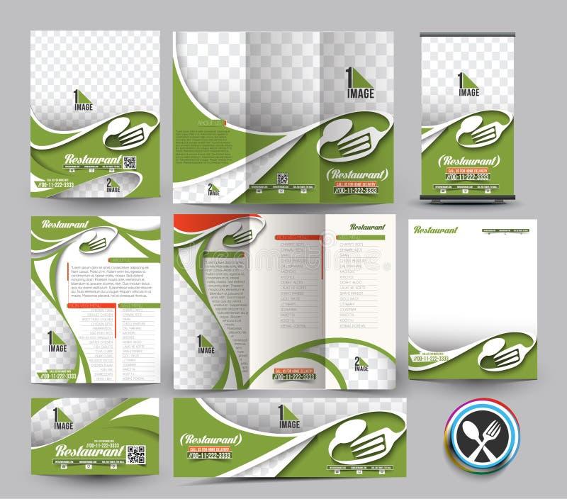 Brevpapper för restaurangaffär vektor illustrationer