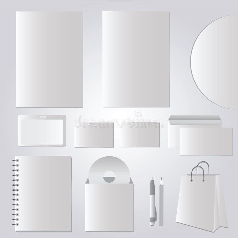 Brevpapperdesign, företags mallar - vektoruppsättning stock illustrationer