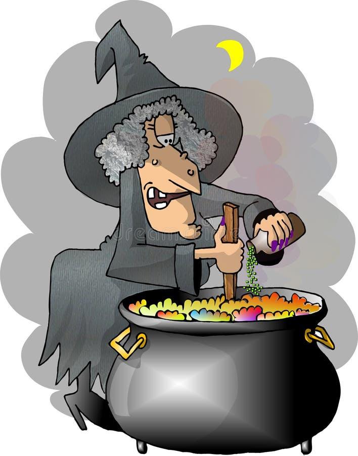Brew de las brujas stock de ilustración