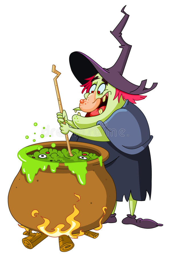 Brew de sorcière illustration libre de droits