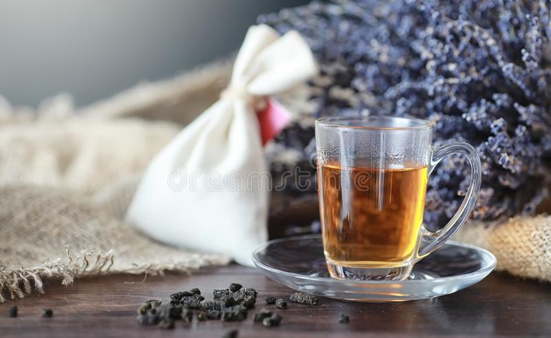 Brewed tea on a serving table royalty free stock photos
