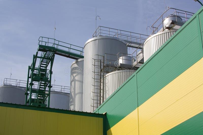 Brewery. Huge fermentation tank shot overall plan stock photos