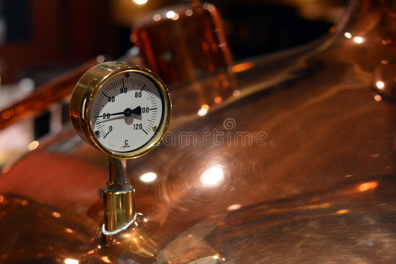 Brewery. Brewing coppers in a brewery royalty free stock images
