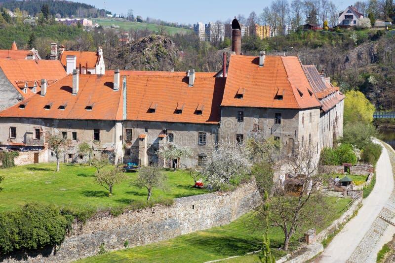Brewery, Cesky Krumlov town UNESCO, South Bohemia, Repubblica ceca, Europa immagini stock