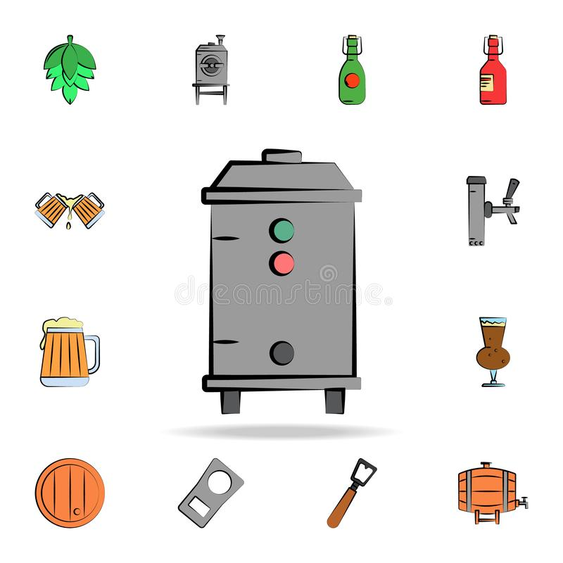 Brewery colored sketch style icon. Detailed set of color beer in hand drawn style icons. Premium graphic design. One of the. Collection icons for websites, web royalty free illustration