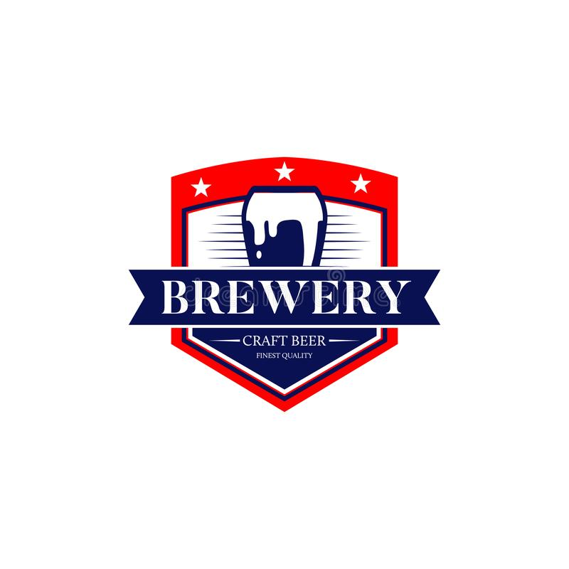 Brewery Craft Beer Logo Symbol Icon stock illustration