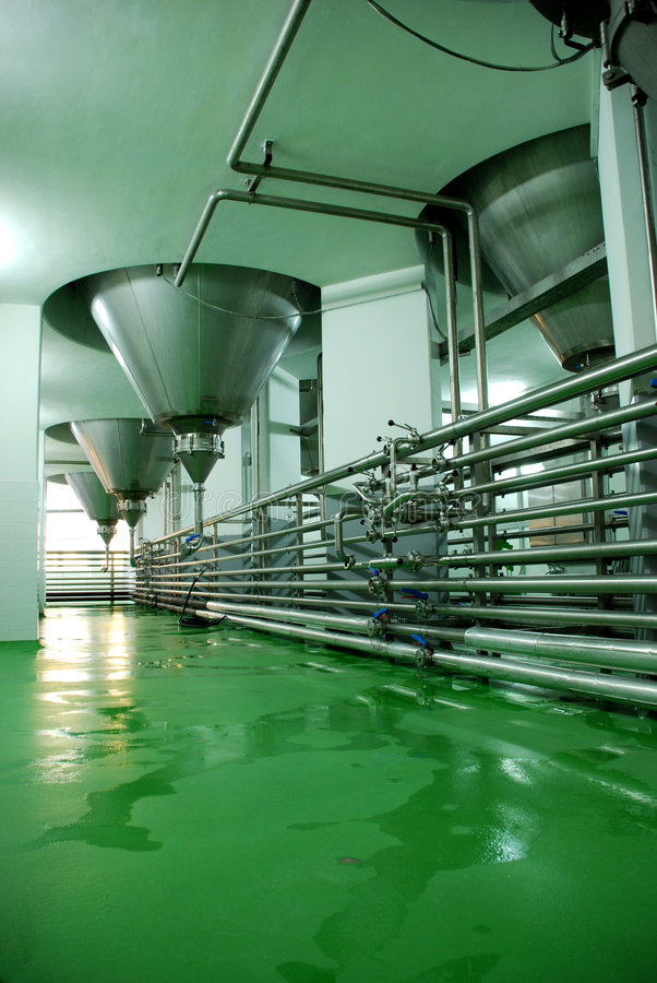 Brewery equipment royalty free stock photography
