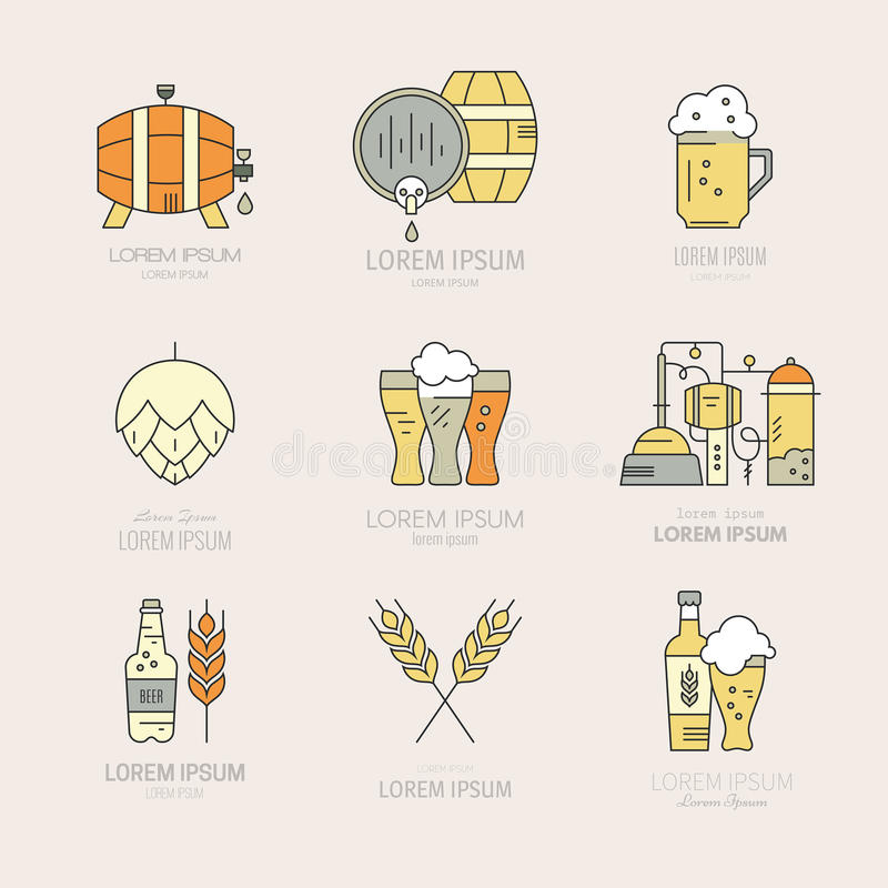 Brewery Logo Collection stock illustration