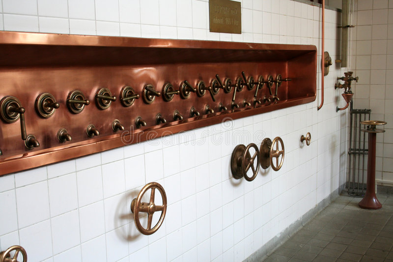 Download Brewery taps stock image. Image of bronze, shield, taps - 4677217