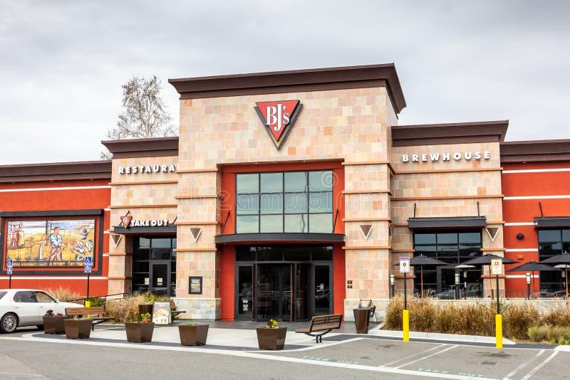 Brewhouse του BJ σημάδι εστιατορίων στοκ εικόνα